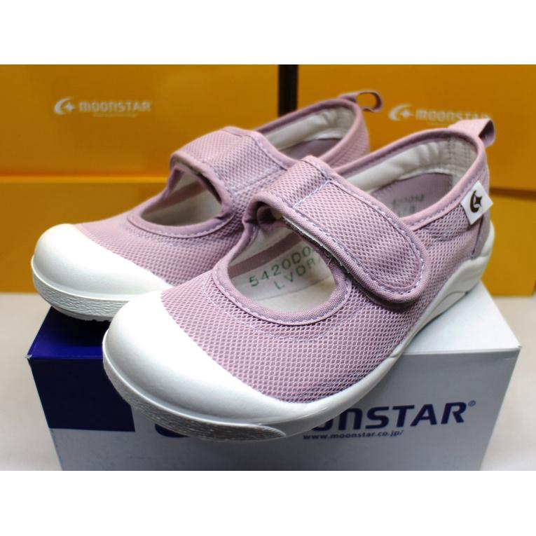 【艾莉絲童鞋】MoonStar日本月星機能童鞋-抗菌防滑絆帶室內鞋-紫(日本製造生產的唷)(MSCN027)