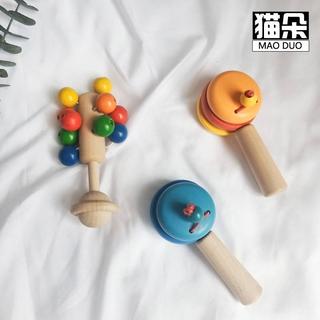 高品質玩具【寶寶禮物】新生嬰兒兒手握玩木製手搖鈴響板大號幼兒木頭0~1歲益智玩具環保💕💕可雕刻寶寶名字或日期...