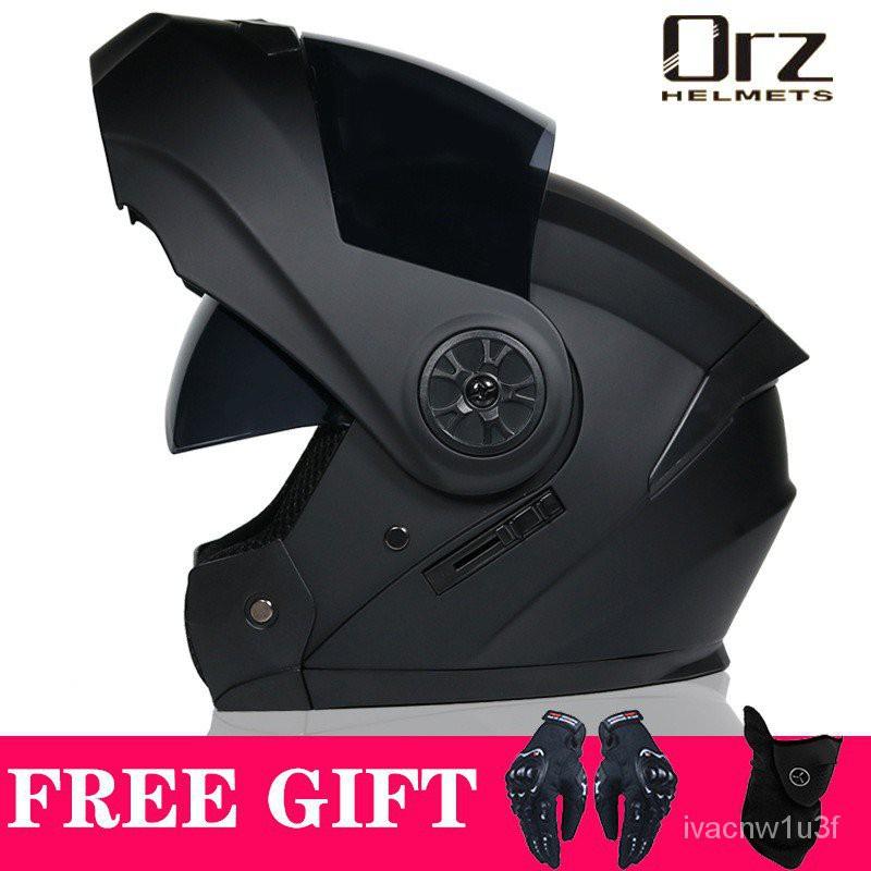 【蝦皮特惠】【熱賣】ORZ機車安全帽 男女全盔揭面盔 四季全覆式安全帽