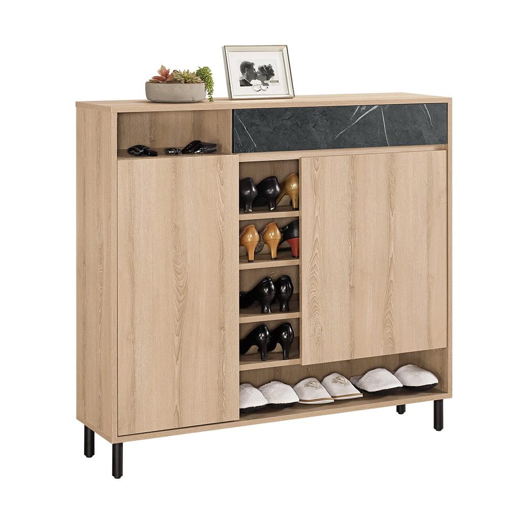 Boden-卡尼特4尺工業風二門一抽鞋櫃/開放式鞋櫃