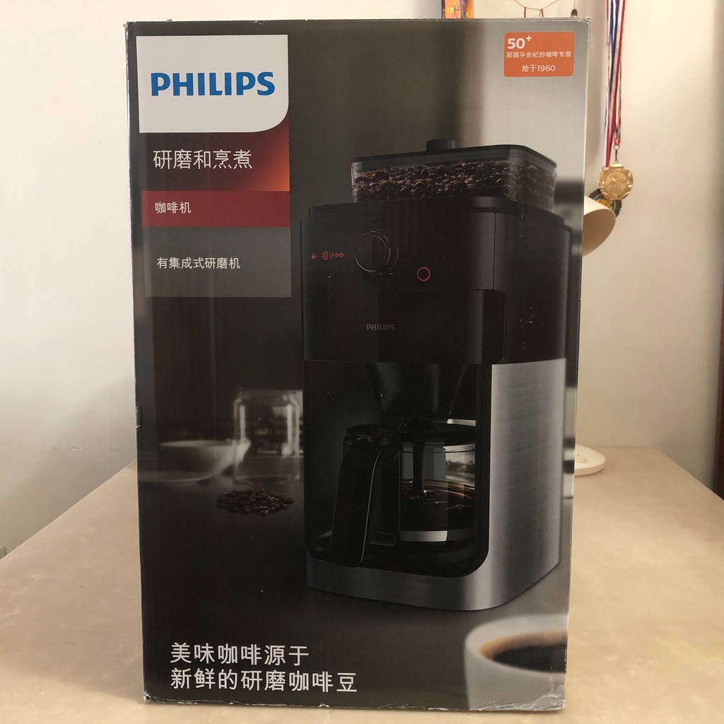 咖啡機/咖啡研磨機〉【Philips 飛利浦】全自動研磨咖啡機--二手全新未拆封