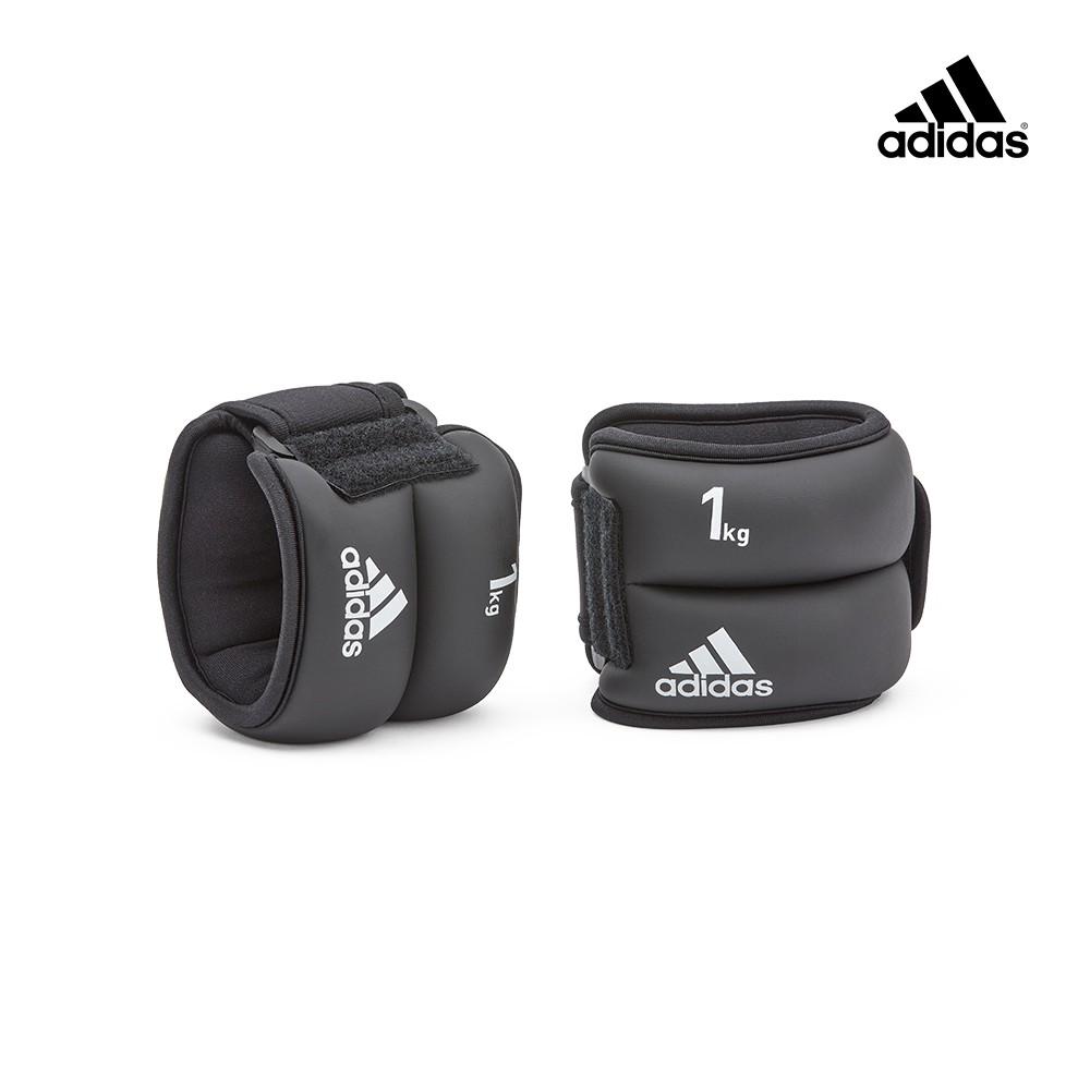 adidas愛迪達 加重訓練護腕/護踝-1kg(黑色)