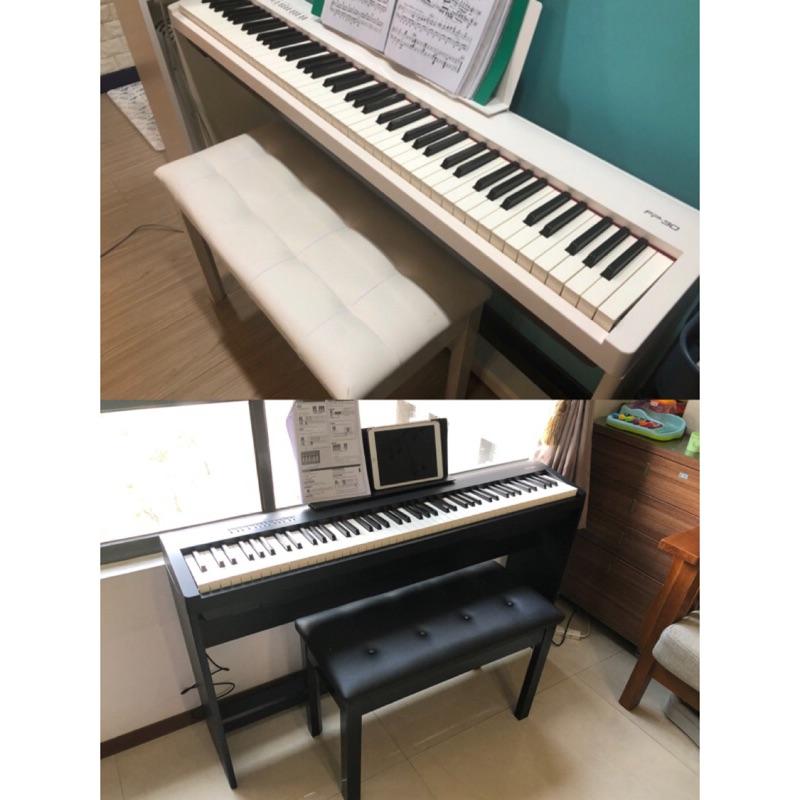 平行輸入 Roland FP-30 FP30 88鍵電鋼琴 鋼琴 電子琴 贈品含琴椅耳機木架踏板台中以北到府安裝 二手
