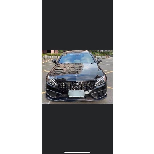 【Mr.car】w205 c300 amg保桿用雙層碳纖維吧波斯前唇