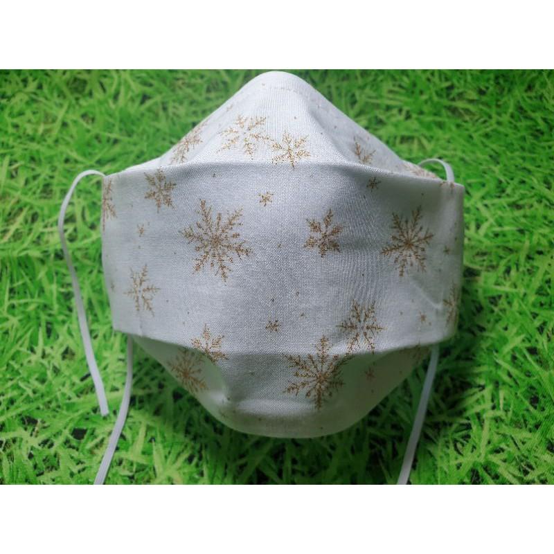 布口罩-聖誕雪花款(舟型)