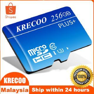 KRECOO存儲卡高速256GB存儲卡內存,micro SD TF,適用於手機/ 平板電腦/ 相機/ 相機等。