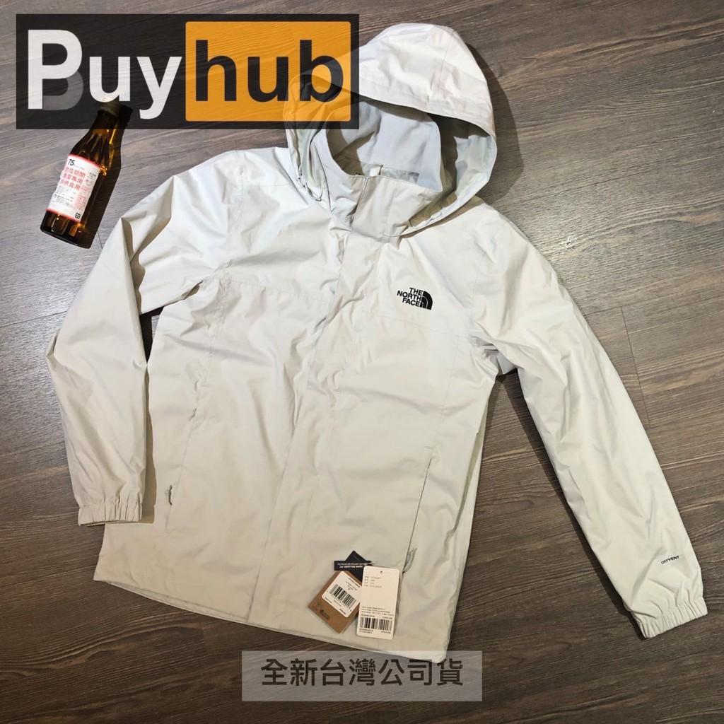 ☑[75折] 全新尺寸M,The North Face 男款 灰白色防水透氣耐磨連帽衝鋒衣 外套 49F79B8