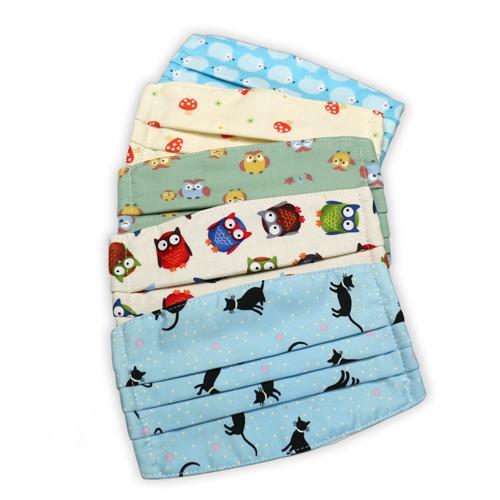 棉布口罩套 動物系列2 兒童專用 3層 有機棉 100%純棉進口布料 可重複使用 純手工製作