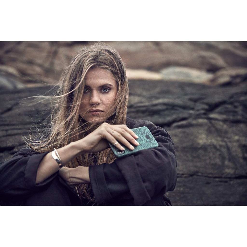 北歐時尚 iPhone XR 手機殼 (翠綠蛇紋) holdit 瑞典品牌 Paris 時尚動物系列 原廠正品 現貨
