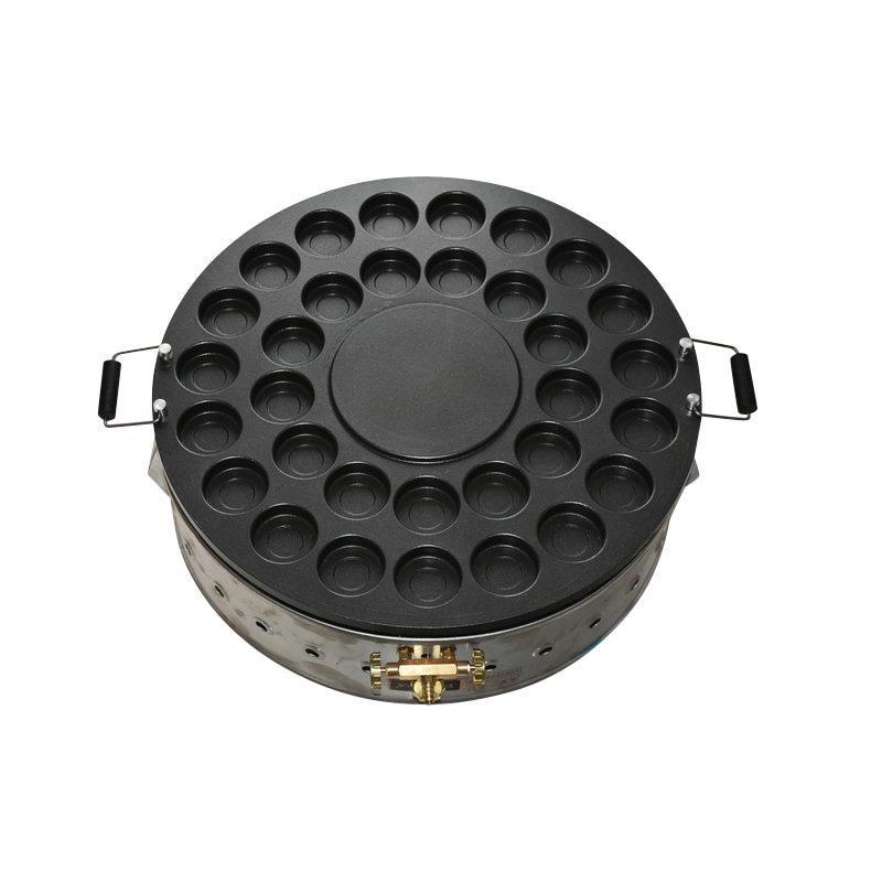 商用臺灣紅豆餅機 32孔不粘鍋燃氣紅豆餅爐車輪餅機 四川玉米餅機