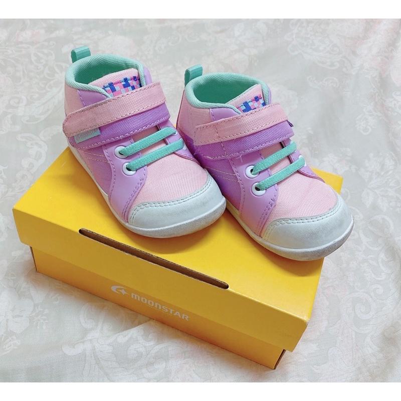 [二手9成新]正版Moonstar日本月星-14碼兒童鞋/矯正鞋/機能鞋(附鞋盒)
