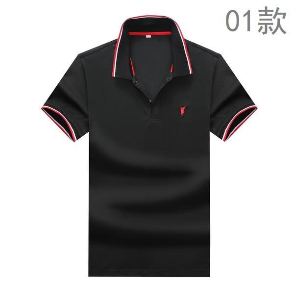 新款Polo保羅 刺繡小馬標 休閒素面短袖POLO衫 商務POLO衫 九色