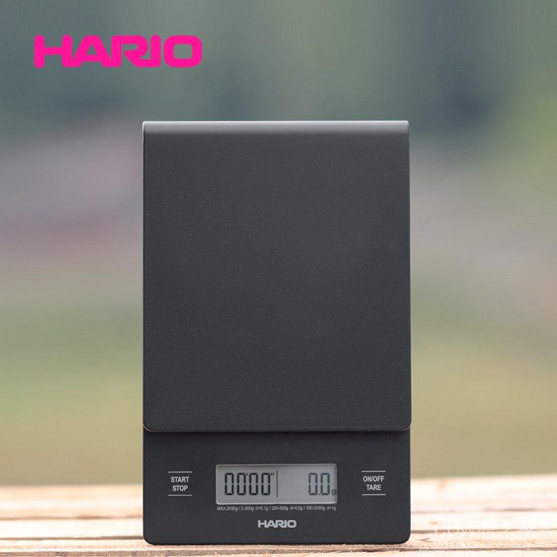 關注立減100 日本哈里歐Hario手沖咖啡電子稱精準多功能V60計時電子秤VST2000B 快速出貨
