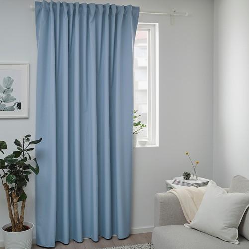 百寶囊IKEA代購 BENGTA 99%遮光窗簾 遮光布 素色窗簾 落地窗簾掛鉤布簾 客廳臥室用 素色窗簾 遮陽