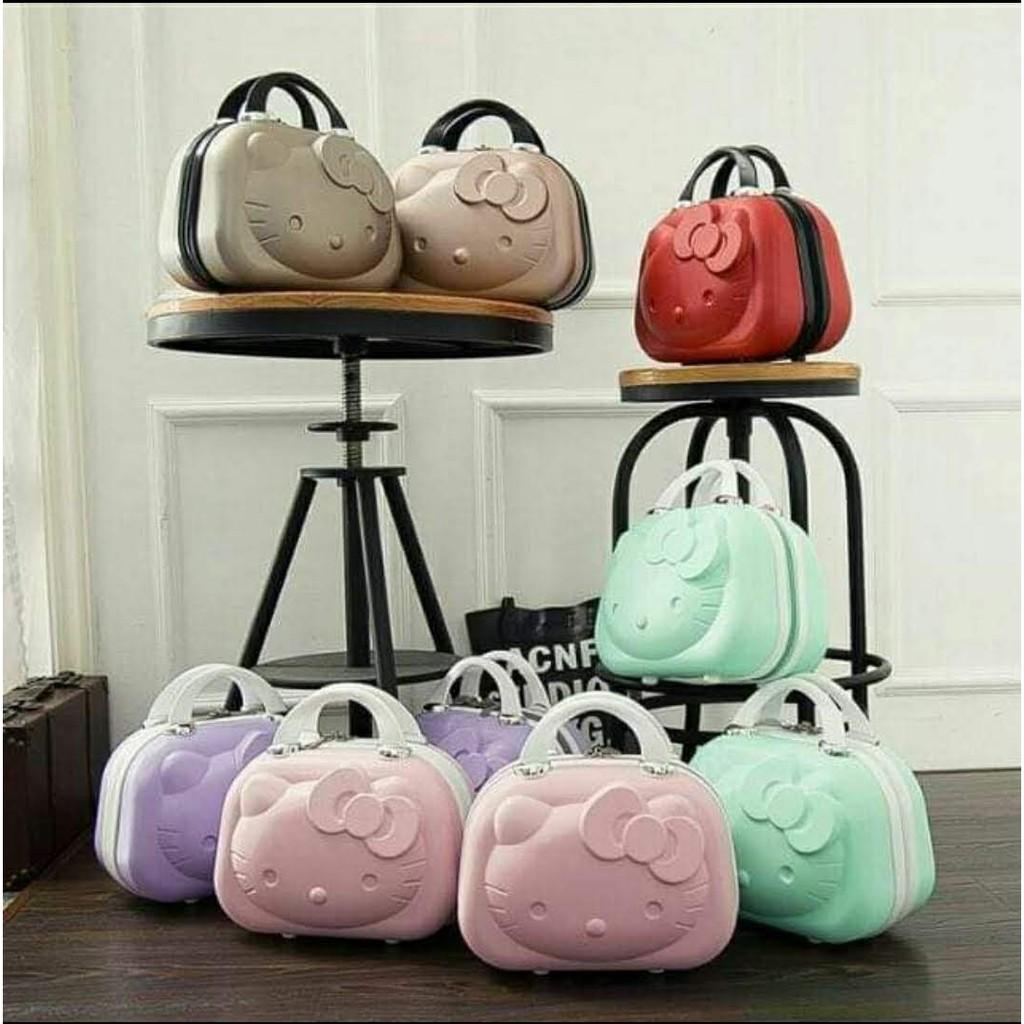 ❣噯琪琪❣三麗鷗hello kitty14吋手提行李箱化妝箱