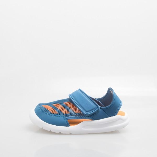 ADIDAS 包腳 兒童運動涼鞋-藍橘 BA9379