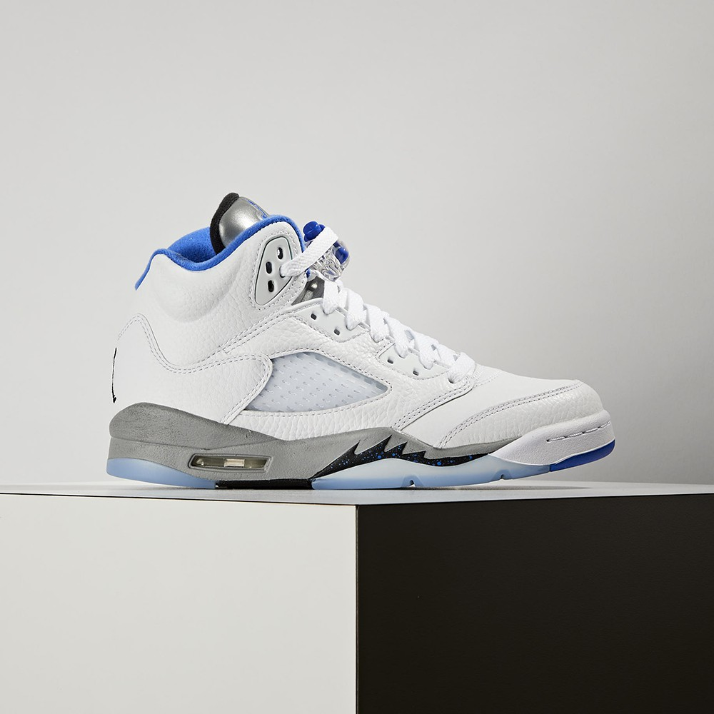 "Nike Air Jordan 5 GS ""Stealth 2.0"" 大童 白藍 冰底 籃球鞋 440888-140"