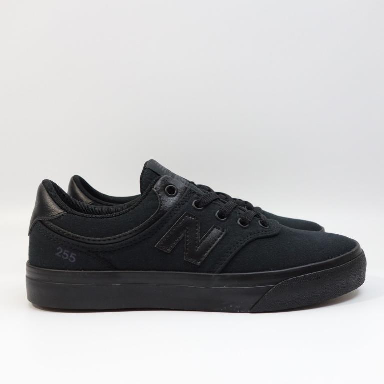 NEW BALANCE NB 255 女生鞋 YS255TRB M 休閒鞋 帆布鞋 全黑 板鞋【DELPHI23】