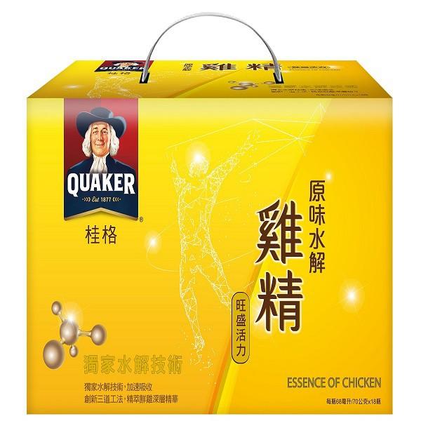 桂格原味水解雞精盒裝18瓶【康是美】