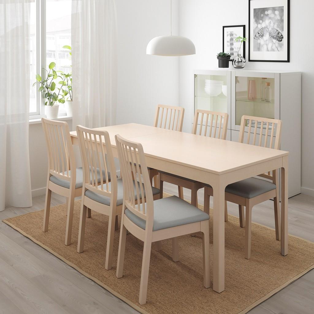 絕版色/北歐IKEA宜家EKEDALEN延伸桌實木餐桌/淺木色/延長180縮短120/二手八成新/原$6790特4800