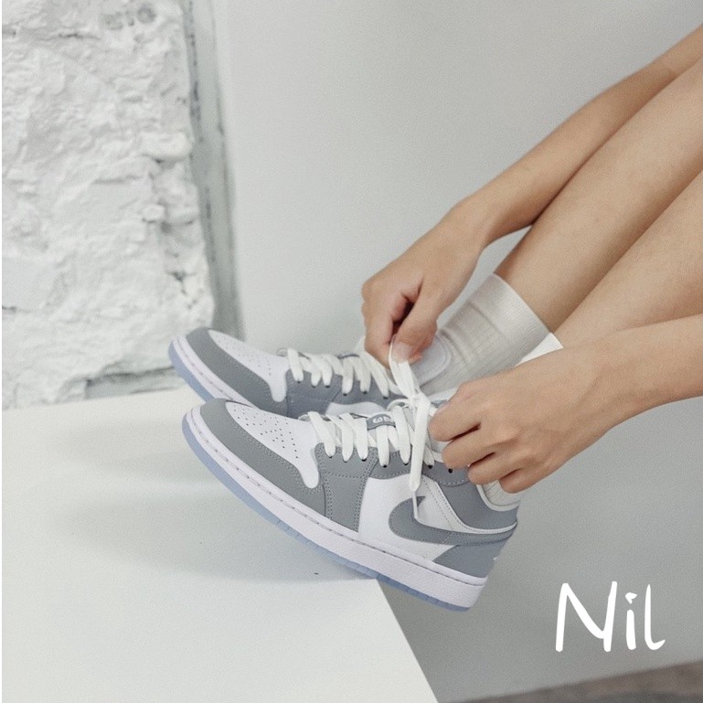 Air Jordan 1 Low 灰白 煙灰 小Dior 一代 AJ1 果凍底 女鞋 低筒 AJ1 DC0774-105