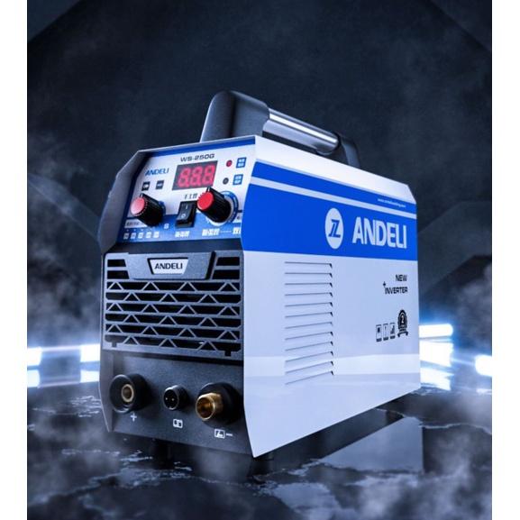 【帕丁】ANDELI安德利WS-250G氬焊機TIG變頻式電焊機WS250雙用焊機220V氬弧焊機IGBT焊道清洗機三用