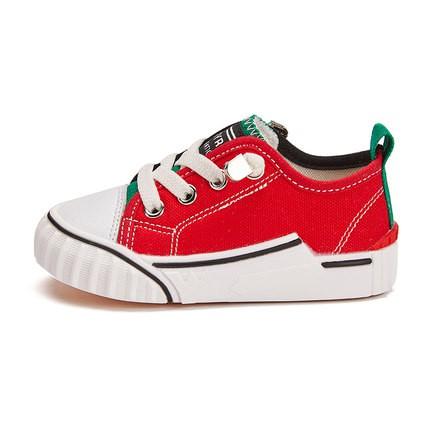 兒童帆布鞋 兒童帆布鞋寶寶男童鞋子女童鴛鴦鞋小童軟底布鞋春秋款一腳蹬板鞋