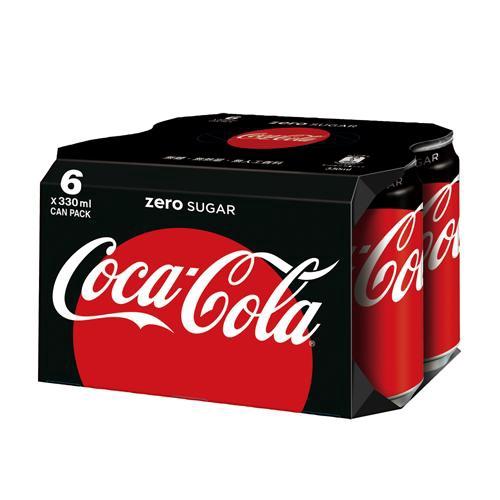 可口可樂zero易開罐330mlx6入【愛買】
