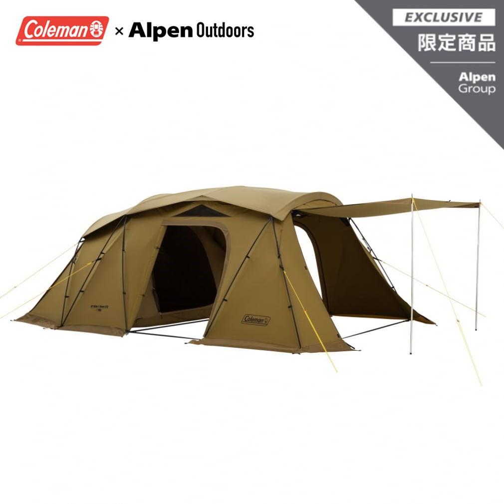 【限定企劃】Coleman x Alpen Outdoor - 暗金色 隧道帳 含頂布 含地墊 VC科技棉 4~5人