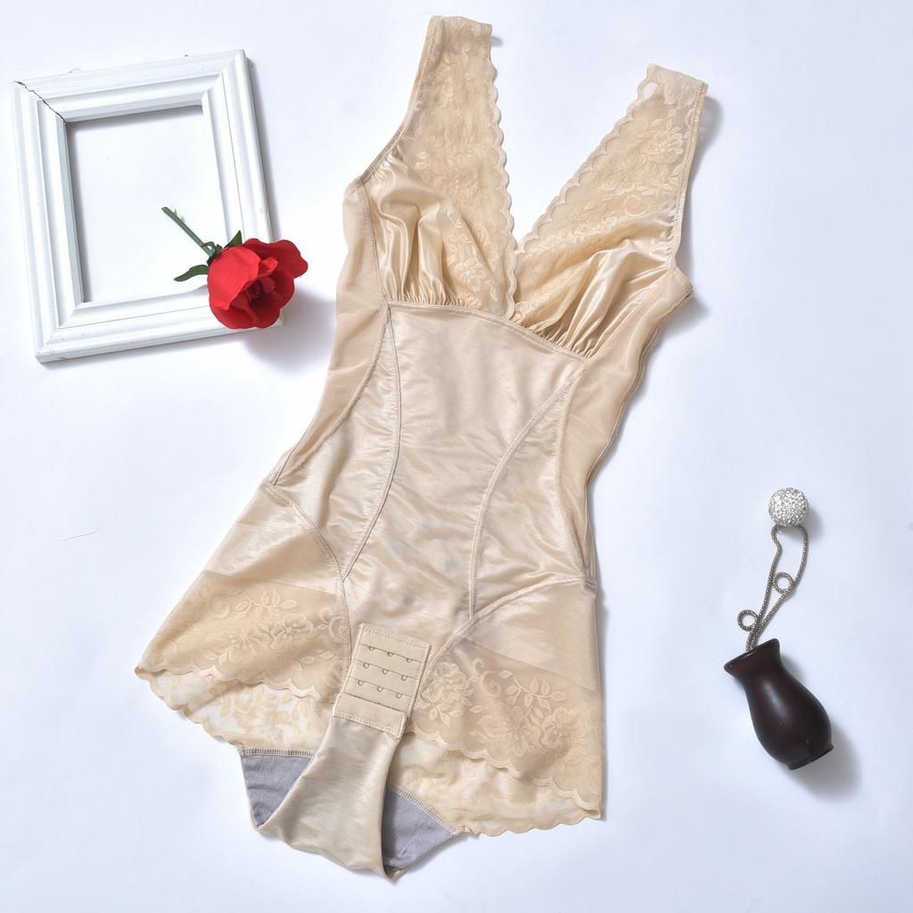 修身塑身衣婷麗美人計連體塑身衣收腹提臀減肚子束身衣女夏季超薄款美體內衣