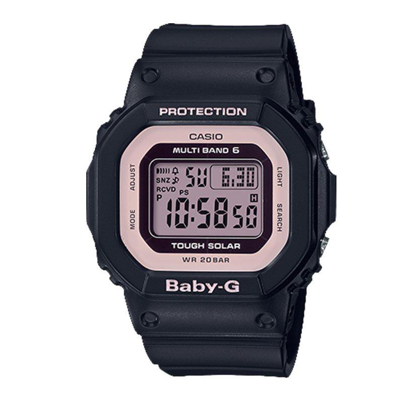 卡西歐手錶女BABY-G電波太陽能復古電子錶小方塊運動BGD-5000-1/7