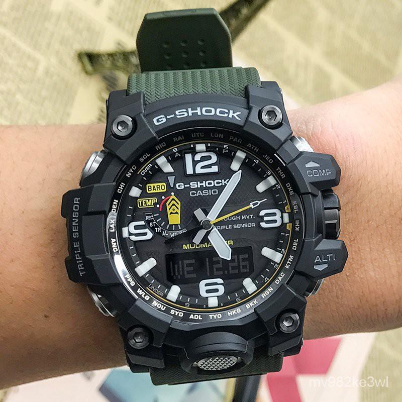 卡西歐手錶原裝GWG-1000-1A3/1A/1A1/GB-4A光能電波男錶泥王
