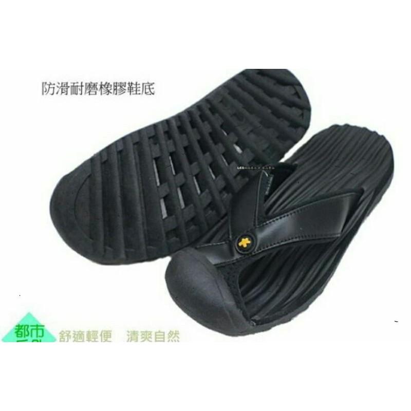 新品上架   SIX TEN 男款運動休閒護趾夾腳拖鞋(黑 M51005 ) ~請先詢問尺寸~