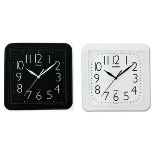 【山姆大叔工作坊】CASIO時鐘 居家必備 大數字 對比顏色 大方流線正方形掛鐘(10吋) IQ-02S 桃園市