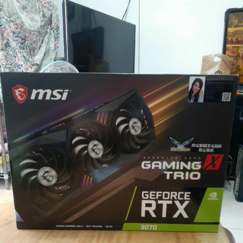 全新 雙北💯未鎖算力的💯MSI GeForce RTX™ 3070 GAMING X TRIO