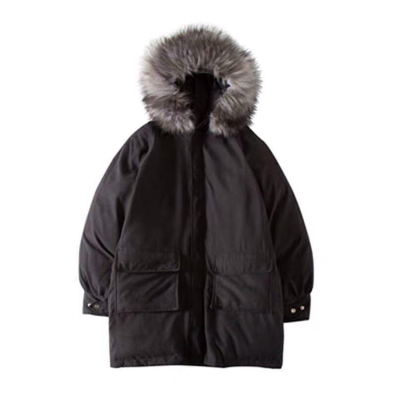 超厚羽絨大衣情侶外套