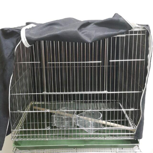 ↖☆婍婍小舖☆↘ 二手1尺半  1.5尺不鏽鋼白鐵鳥籠含籠布 木棍 鳥飼料盒~二尺不鏽鋼籠~不適免運條件~限自取