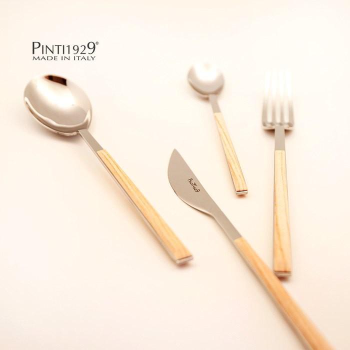 【Pintinox】Sushi Queen 24件餐具組(六人份套組) 仿樺木淺棕