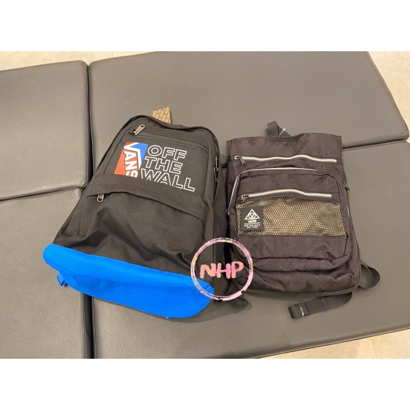 Vans 後背包 書包 背包 黑色 藍色 拉鍊 休閒 運動 復古 帆布 戶外