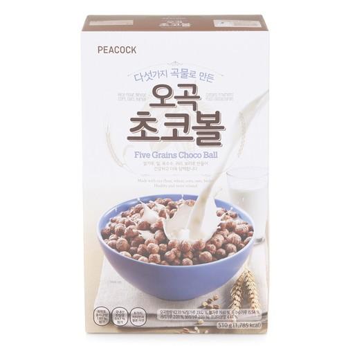 [韓國直送][孔雀PEACOCK] 巧克力球-含有五種穀物510g