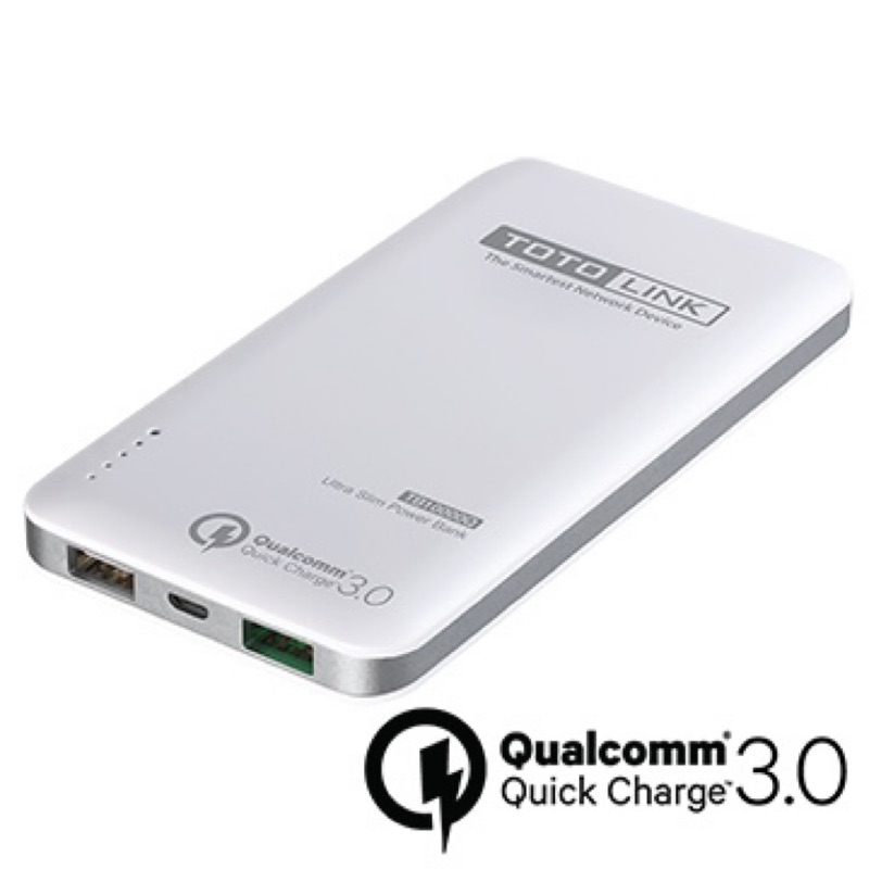 TOTO/Quick Charge 3.0閃充輕薄行動電源