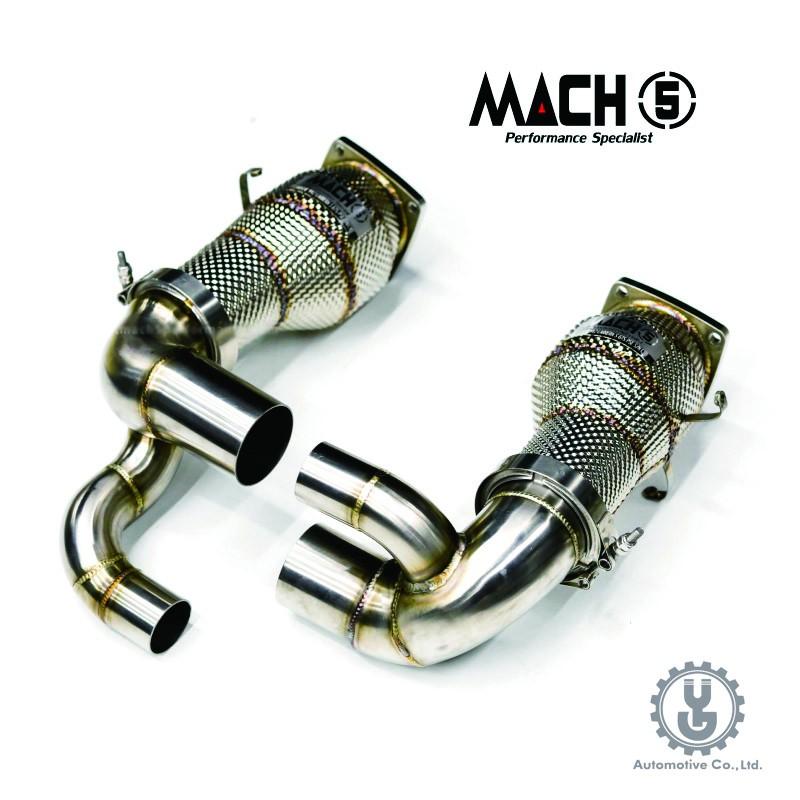 MACH5 高流量帶三元催化頭段 當派 排氣管 PORSCHE 991.2 Carrera 底盤系統【YGAUTO】