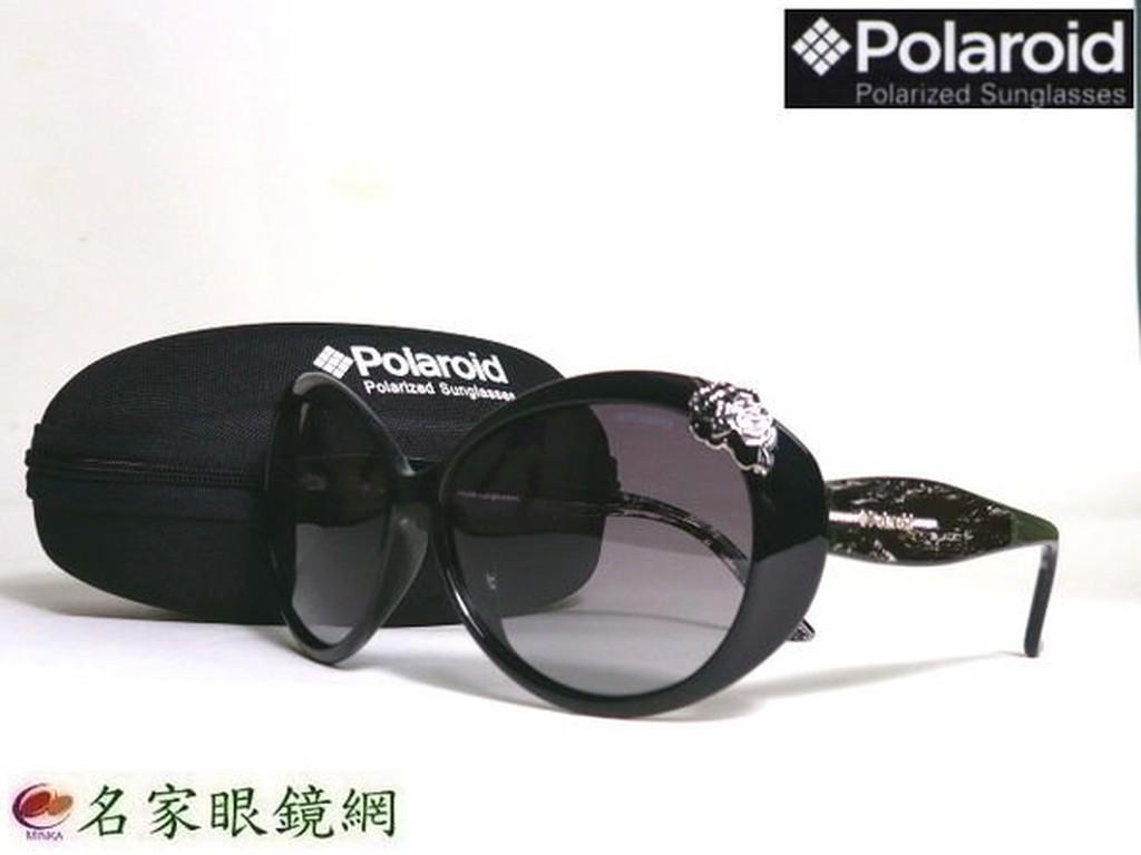 《名家眼鏡》Polaroid 俏麗氣質杜鵑花造型黑色偏光太陽眼鏡7905-BK1【台南成大店】