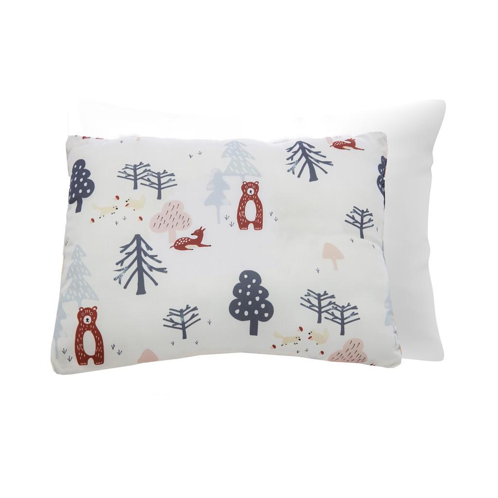 享居DOTDOT 兒童天絲枕頭枕套組 (樂趣叢林) 防螨抗菌 天絲表布 60支萊賽爾 舒適支撐(建議1歲以上)