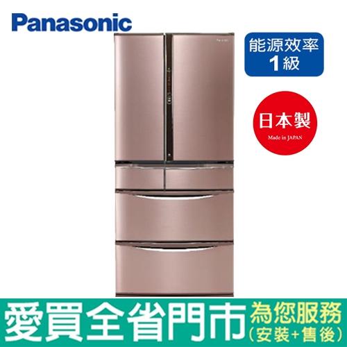 Panasonic國際牌 601L六門變頻冰箱NR-F604VT-R1