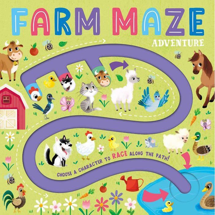 Farm Maze Adventure  農場迷宮冒險(手指迷宮書)
