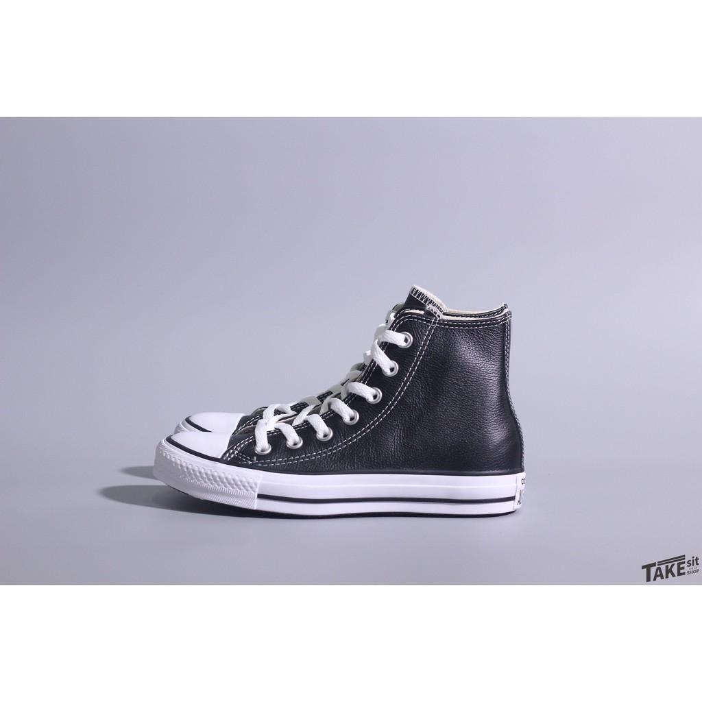 《Takesitshop》converse 黑 皮革高筒