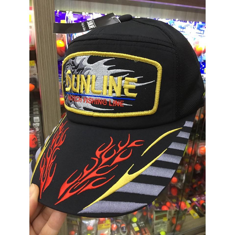五豐釣具-SUNLINE新款大片徽章網狀釣魚帽CP-2506