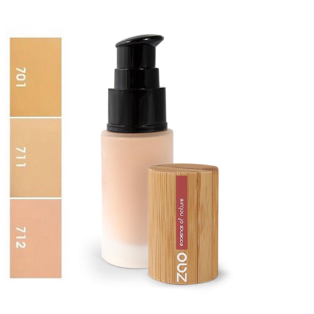 ZAO 法式有機竹彩絲光柔膚拉提粉底液-全新PUMP瓶(3色)