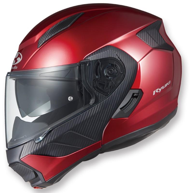 日本進口OGK Ryuki揭面盔雙鏡片電動車頭盔碳纖維SHOEI頭盔四季